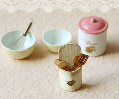 Dollhouse Accessories - Kitchen Utensils Holder on Luulla