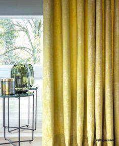 Gordijnen - ruime collectie stoffen voor gordijnen bij Thuisin Curtains, Home Decor, Amber, Home Deco, House Decorations, Velvet, Homemade Home Decor, Interior Design, Home Interiors