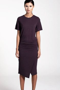 Contemplate is a comfortable dress in viscose jersey with a returning Stylein silhouette of a slim bottom and loose upper part. - Stylein