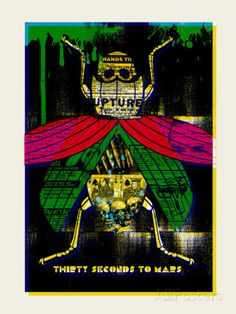 Thirty Seconds to Mars Serigraph by Methane Studios at AllPosters.com
