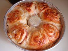 Receita de Rosca de Presunto e Queijo (Flor de Pão) - Receita Toda Hora