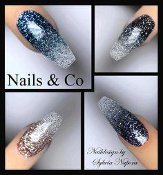 #Naildesign #Nailart #Nail Art #Ombré Nails Glitzer-Farbverlauf Winter Nail Art, Winter Nails, Nail Art Blog, Nailart, Nail Art Designs, Daisy, Nail Polish, Glitter, Pink