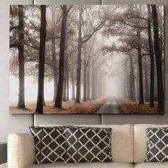 """Misty Road"" by Lars Van de Goor Photographic Print on Wrapped Canvas"