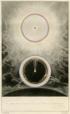 """1845. An essay on symbolic colours, in antiquity--the middle ages--and modern times. From the French of """"le baron Frédéric de Portal"""". With notes, by W.S. Inman. / Sacred Geometry <3"""