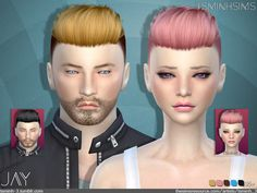 JAY ( Hair 9)  Found in TSR Category 'Sims 4 Female Hairstyles'