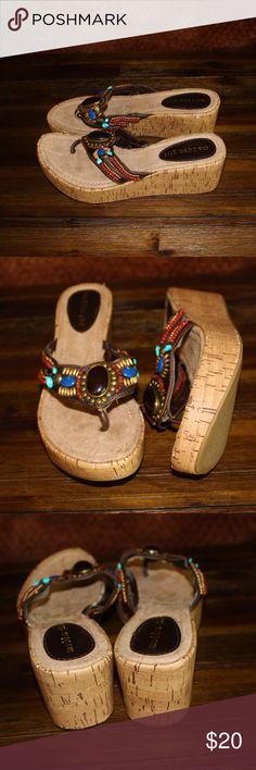 Madden Girl slip on wedge sandals Slip on wedge sandals, great condition , like new. Madden Girl Shoes Wedges