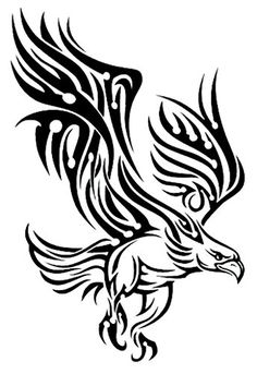 """Black Tribal Bird Temporary Body Art Tattoos 2.5"""" x 3.5"""". Safe & Non Toixc FDA certified colorants. Easy to Apply! Comes with instructions!. Easy to Remove! Temporary is the idea!. Lasts 3-5 Days on average!."""