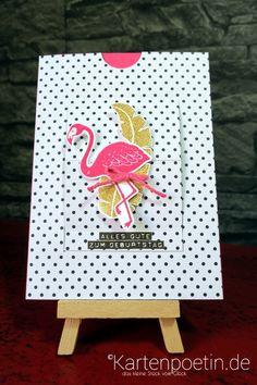 Flamingokarte StampinUP II