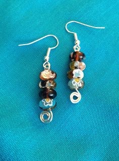 Silver Foil Millefiori Bead Earrings by whiteroofgifts. Explore more products on http://whiteroofgifts.etsy.com
