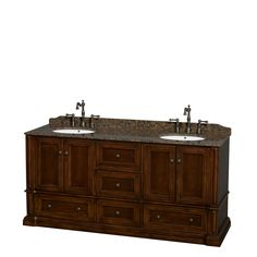 Old world charm meets modern functionality with the Rochester line of traditional bathroom vanities.