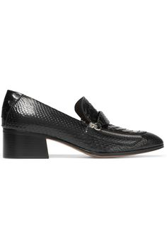 Heel measures approximately 45mm/ 2 inches Black python Slip on Python: Vietnam Made in Italy