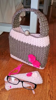 Book or Bible Cover and Eyeglass Case Set Crochet by gavandjack I just absolutely love this !!!!!!! ❤❤❤❤❤❤❤