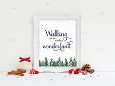Walking in a Winter Wonderland  PRINTABLE Wall Art by RissDesign on Etsy