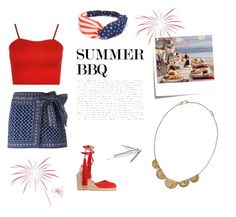 """BBQ in Style"" by lindsey-malcolm ❤ liked on Polyvore featuring Étoile Isabel Marant, Castañer, WearAll, Post-It, summerbbq and purposejewelry"