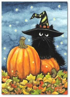 Image result for easy halloween paintings witch hat