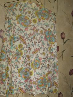 70s mod hippie PASTEL  flowers long  tunic by Linsvintageboutique, $27.50