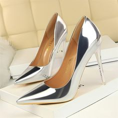 Patent Leather Thin Heels Office Women Shoes New Arrival Pumps Fashion High  Heels Shoes Women s Pointed Toe Sexy Shoes Shallow 8264399e3916