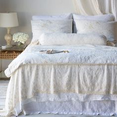 Bella Notte Linens Seville Embroidered Large Throw Blanket Ships Free