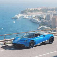 "Essentials on Instagram: ""@azzurrodino in his stunning Pagani Huayra overlooking Monaco   by @thomvdn"""