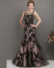 2016 nova Arrvial preto Appliqued vestido de dama de honra 2015 sereia longo da dama de honra vestido com faixa de projeto do Vintage(China (Mainland))