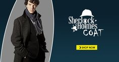 Sherlock Holmes Coat is made to enhance your personality with the touch of detective look. Have this Benedict Cumberbatch Holmes Coat in your wardrobe. Sherlock Holmes Costume, Year 2016, Detective, Coat, Sewing Coat, Coats, Peacoats, Jacket