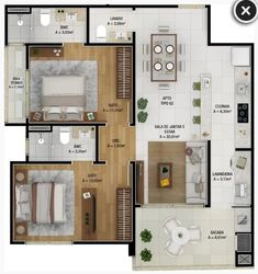 Apartment Layout, Apartment Interior, Home Building Design, Building A House, House Floor Design, Studio Floor Plans, Interior Design Renderings, House Plans Mansion, Casas The Sims 4