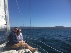 15 kts wind, 3-4' seas, sunny 65 deg in summers waning days