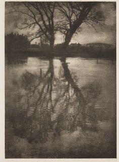 George Davison  'Reflections, Weston-on-the-Green', 1899. Photogravure.