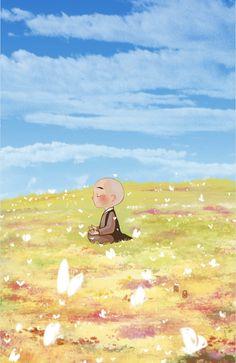 """We are all cells in the body of humanity"" ~ Peace Pilgrim ♥lis Baby Buddha, Little Buddha, Buddha Doodle, Buddha Art, Samurai Artwork, Meditation Art, Buddha Buddhism, Cute Cartoon Wallpapers, Zen Art"
