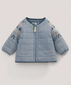 Fifi Lapin Quilted Jacket - NEW Arrivals - Mamas & Papas. Little Fashion, Baby Girl Fashion, Toddler Fashion, Look Fashion, Kids Fashion, Baby Outfits, Kids Outfits, Cute Outfits, Inspiration Mode