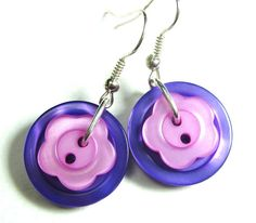 Items similar to Button Girl Earrings, Cute Flower Styles on Etsy Girls Earrings, Flower Earrings, Flower Fashion, Pretty Flowers, Washer Necklace, Button, Cute, Etsy, Jewelry