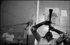 West Macedonia, Village of Siatista. A gipsy musician playing at the feast of August 1988 Photography Projects, Image Photography, Street Photography, White Photography, World Best Photographer, Photographer Portfolio, Black White Photos, Black And White, Susan Sontag