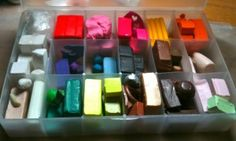Polymer Clay Storage Solutions, Options, Tips, & Help to find ways to store your polymer clay on KatersAcres polymer clay blog.