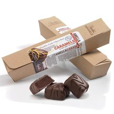 Artisanal chocolate fudge caramels covered in rich, dark chocolate