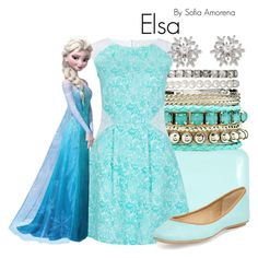 """Elsa"" by sofiaamorena ❤ liked on Polyvore featuring SPURR, Charlotte Russe, Almari, Ash and Chopard"