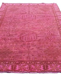 #6x9 #pink #vintage #persian #rug #overdyed
