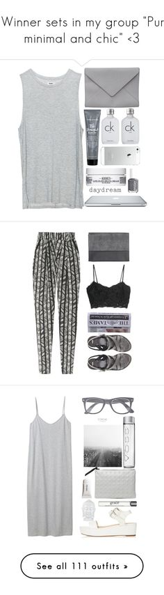 """""""1 Winner sets in my group """"Pure, minimal and chic"""" <3"""" by juuliap ❤ liked on Polyvore featuring Essie, Calvin Klein, Acne Studios, Ann Demeulemeester, AT&T, Bumble and bumble, Kiehl's, Elite, DAY Birger et Mikkelsen and ASOS"""