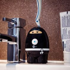 #PerfectTeeth Begin with a Clean Toothbrush! Black Ninja Hi-Ya Zapi #ToothbrushSanitizer Gets the Job Done. http://www.coolgizmotoys.com/2015/07/perfect-teeth-clean-toothbrush.html