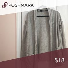 Basic gray H&M Cardigan Gently worn with no flaws H&M Sweaters Cardigans