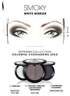 Obtén el look: Smoky White Mirror. #SephoraColorfulMx
