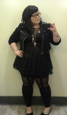 Chubby gothic girls
