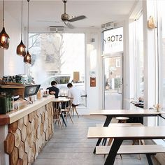 Coffeeshop goals. Story Coffee, St John's Hill, London. #cafe #coffeeshop More