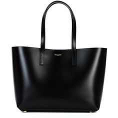 Saint Laurent medium 'Paris' tote (£865) ❤ liked on Polyvore featuring bags, handbags, tote bags, purses, totes, bolsas, black, leather purse, leather pouch and leather tote