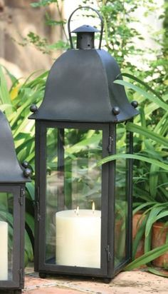 Hand-Forged Iron Grande San Juan Lantern With Black Finish by Universal Lighting and Decor. $559.91. Why not add a twist of romance when illuminating your indoor or outdoor living space? The handsome Grande Sane Juan Lantern features a hand-forged iron construction with a black finish, and a hinged access door which allows you to effortlessly replace the pillar candle.