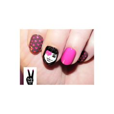 valentines day nails found on Polyvore