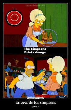 Los errores de los Simpsons .