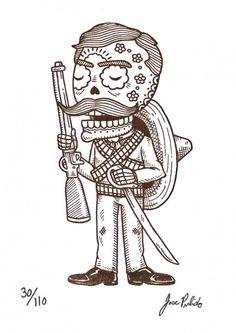 Calavera de Emiliano Zapata por José Pulido