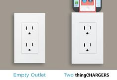 MOMS:  thingCHARGER is genius and almost invisible.  No more wires our kitchen counters!  www.viaparenting.com