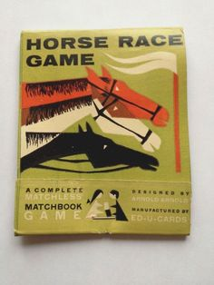 Vintage Horse Race Matchless Matchbook Game - A+ graphics, VERY RARE!
