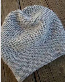 simple garter hat